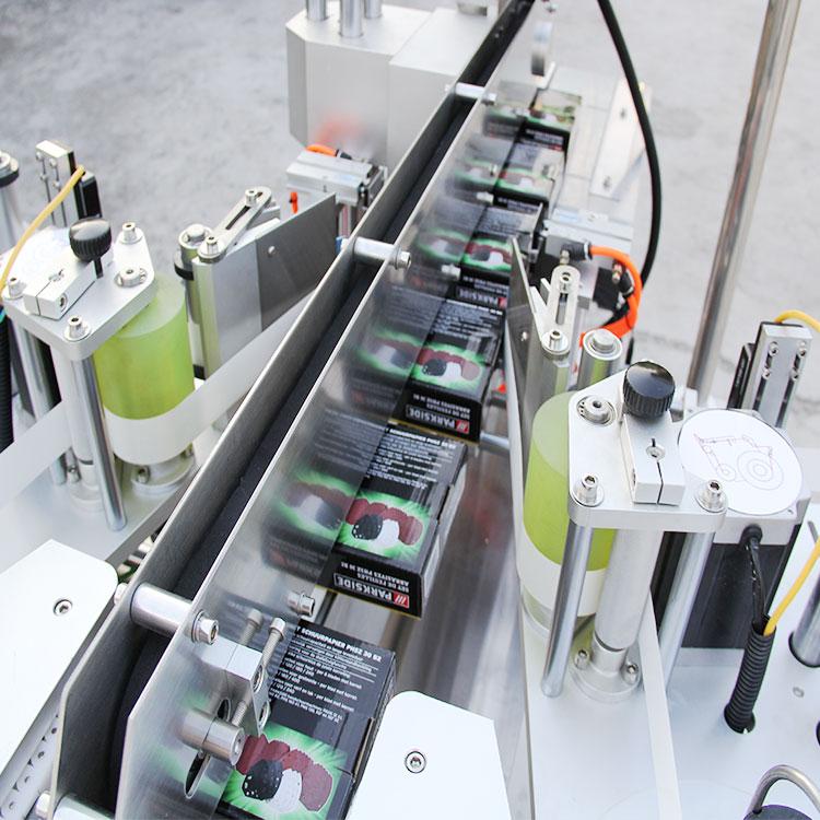 Automatikus kartondoboz sarok címkéző gép részletei