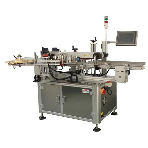 Automatikus kartondoboz sarok címkéző gép