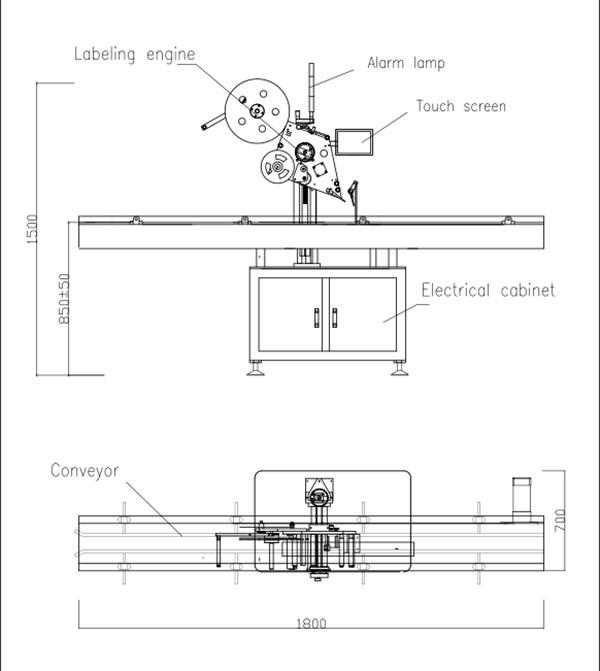 Automata lapos tetejű öntapadó címkéző gép
