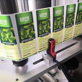 Automatikus első és hátsó kétoldalas címkéző gép részletei