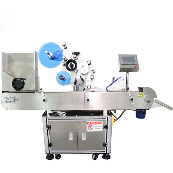 Automatikus vízszintes injekciós üveg matrica címkéző gép