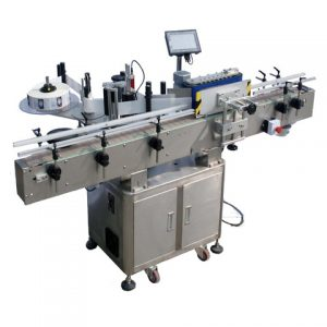 Auto Yoghourt Cans Bottle Pasting Sticker Labeling Machine
