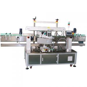 Steril folyékony üveg kétoldalas címkéző gép