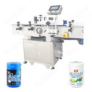 Olajpalack kétoldalas címkéző gép