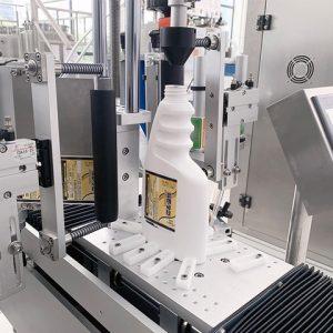 Automatikus címkéző gép ovális palackhoz