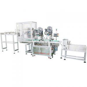 Teljes fém konzervdobozok kétoldalas címkéző gép