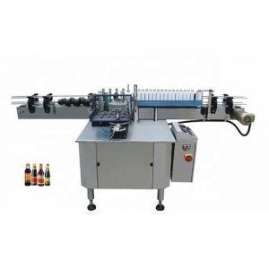 Címkézőgép Négyzet alakú palack 3 oldalú címkéző gép