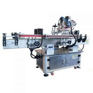 Jars Labeling Machine On Top And Side