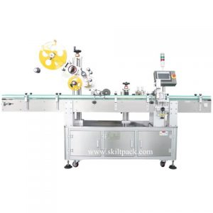 Automatic Label Applicator For Flat Bottle Surfaces