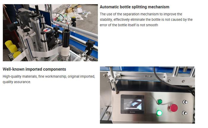 Automatikus asztali palack címkéző gép részletei
